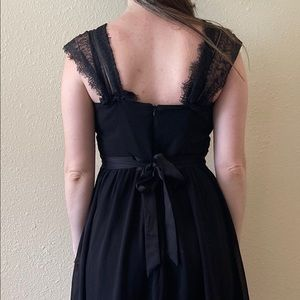 Forever 21 Dresses - Little Black dress lace/chiffon goth Witchy M